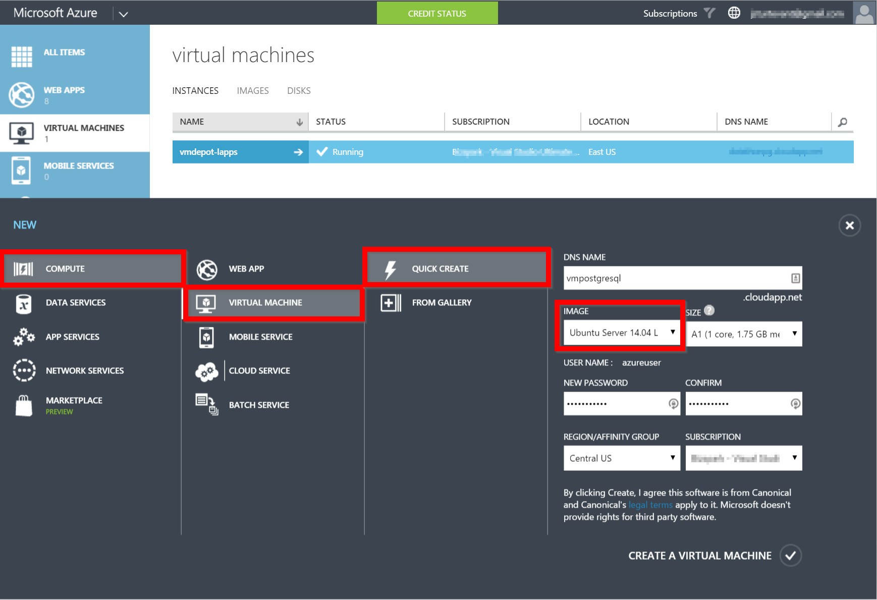 new linux vm