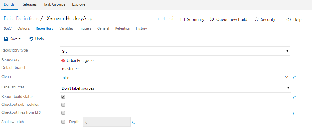 image of repository configuration